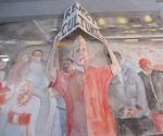 Стенд галереи Carreras Mugica (Бильбао). Работа Хуана Переса Агиррегойкои © Елена Федотова
