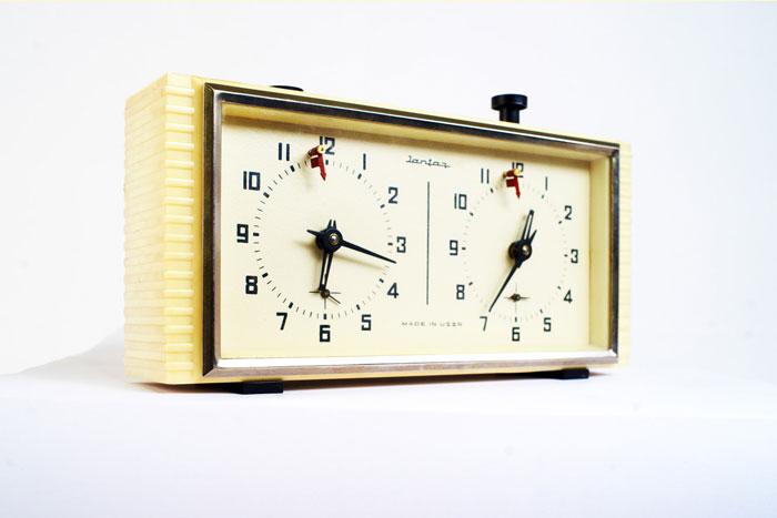 Часы шахматные «Слава», СССР. Никогда раньше не выставлялся; из коллекции Московского музея дизайна