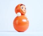 Игрушка «Неваляшка», СССР. Никогда раньше не выставлялся; из коллекции Московского музея дизайна
