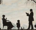 Нарбут Г. И. Семейный портрет (Авторпортрет с женой и дочерью). Силуэт. 1915