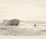 Репин И. Е. Лахта. Пейзаж с баркой. 1868