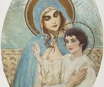 Нестеров М. В. Богоматерь с младенцем. 1900