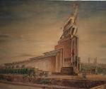 Павильон на Международной выставке в Париже 1937 г. Перспектива. 1936