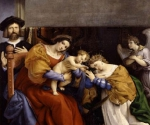 Лоренцо Лотто. Мистическое обручение Святой Екатерины Александрийской. 1523. Академия Каррара, Бергамо