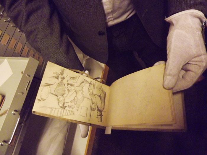 В фондах Музея Мунка в Осло хранятся бесценные свидетели работы творческой мысли мастера – маленькие альбомы эскизов © Фото: Сергей Хачатуров