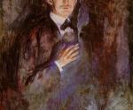 Эдвард Мунк. Автопортрет с зажженной папиросой. 1895.На этом автопортрете из Национального музея Осло Эвард Мунк кажется братом Михаила Врубеля