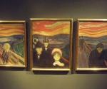 По версии музейных работников, именно в такой триптих сам Мунк собрал свои картины первой половины 90-х годов XIX века «Крик», «Страх» и «Отчаяние» © Фото: Сергей Хачатуров