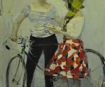 Юрий Пенушкин. Двойная женская одетая постановка (с велосипедом). 1961. Руководитель Е.Е. Моисеенко
