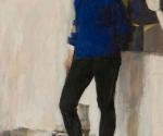 Валерий Леднев. Натурщица в спортивном костюме. 1966. Руководитель А.А. Мыльников
