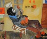 Иван Сотников. У меня в гостях. Портрет Кирилла Хазановича. 1983