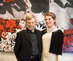 Борис Орлов и главный редактор «Артхроники» Мария Рогулева © Фото: Евгений Гурко