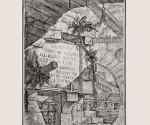Джованни Баттиста Пиранези. Титульный лист серии Carceri. I состояние. 1749-1750.   Офорт, резец