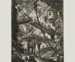 Джованни Баттиста Пиранези. Разводной мост. Лист из серии Carceri. III состояние. 1761.   Офорт, резец