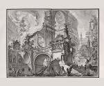 Джованни Баттиста Пиранези. Часть обширной величественной гавани. 1749-1750. Офорт,   резец, сухая игла