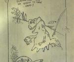 Группа «Урфин Джюс». Страница из рукописной книги «Художник и муза». Нач. 80-х гг. © Артхроника