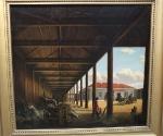 Пейзаж дочки Венецианова – Александры «Почтовая станция», 1842(?)
