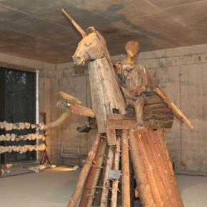 Работа Георгия Острецова. Выставка «Бега». Фото: Валерий Леденёв
