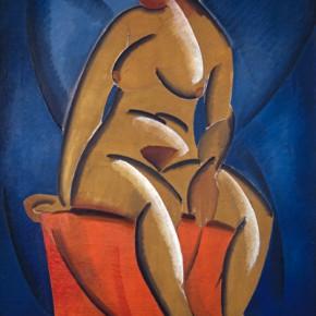 Владимир Татлин. Натурщица. 1913. Холст, масло. Государственная Третьяковская галерея