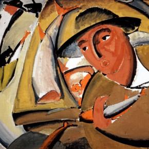 Владимир Татлин. Продавец рыб. 1911. Холст, клеевая краска. Государственная Третьяковская галерея