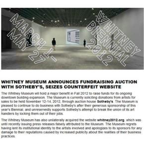 Музею Уитни приписан ложный пресс-релиз
