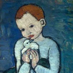 "Пабло Пикассо, ""Ребенок с голубем"", 1901. Деталь © wikipaintings.org"