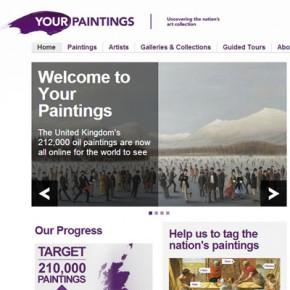 Скриншот сайта bbc.co.uk/arts/yourpaintings