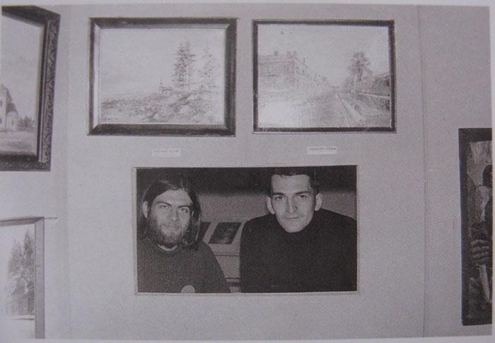 Тимур Новиков и Иван Сотников в «Ноль-объекте». 1982 © Фото: Роман Жигунов / Собрание семьи Тимура Новикова
