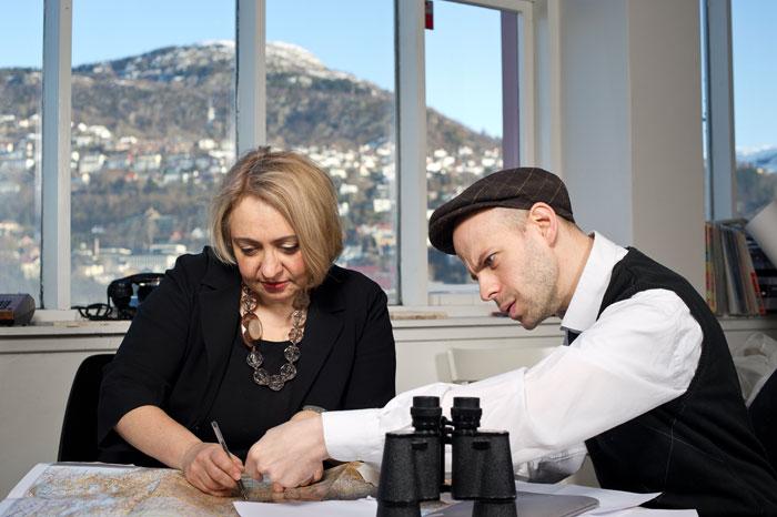 Екатерина Дёготь и Давид Рифф, Берген, 2013 © Thor Brødreskift